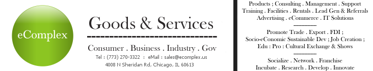 eComplex® - Goods & Services (Consumer : Business : Industrial : Gov)
