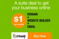 Go Daddy Coupon - $1 Suite Deal - FREE Domain - Website Builder - Office 365