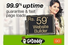 Go Daddy India Coupon - Rs 59 Website Builder Deal