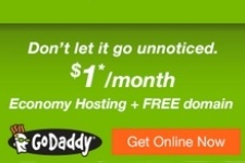 GoDaddy Coupon - $1 Hosting and FREE Domain Offer